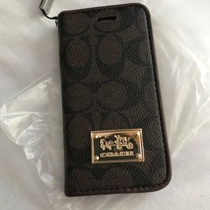 IPhone 7 coach wallet case NWT